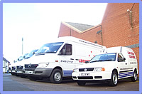 fast parcel delivery anywhere in the UK, a professional door to door courier service, caddy van Leicester available for small packages.